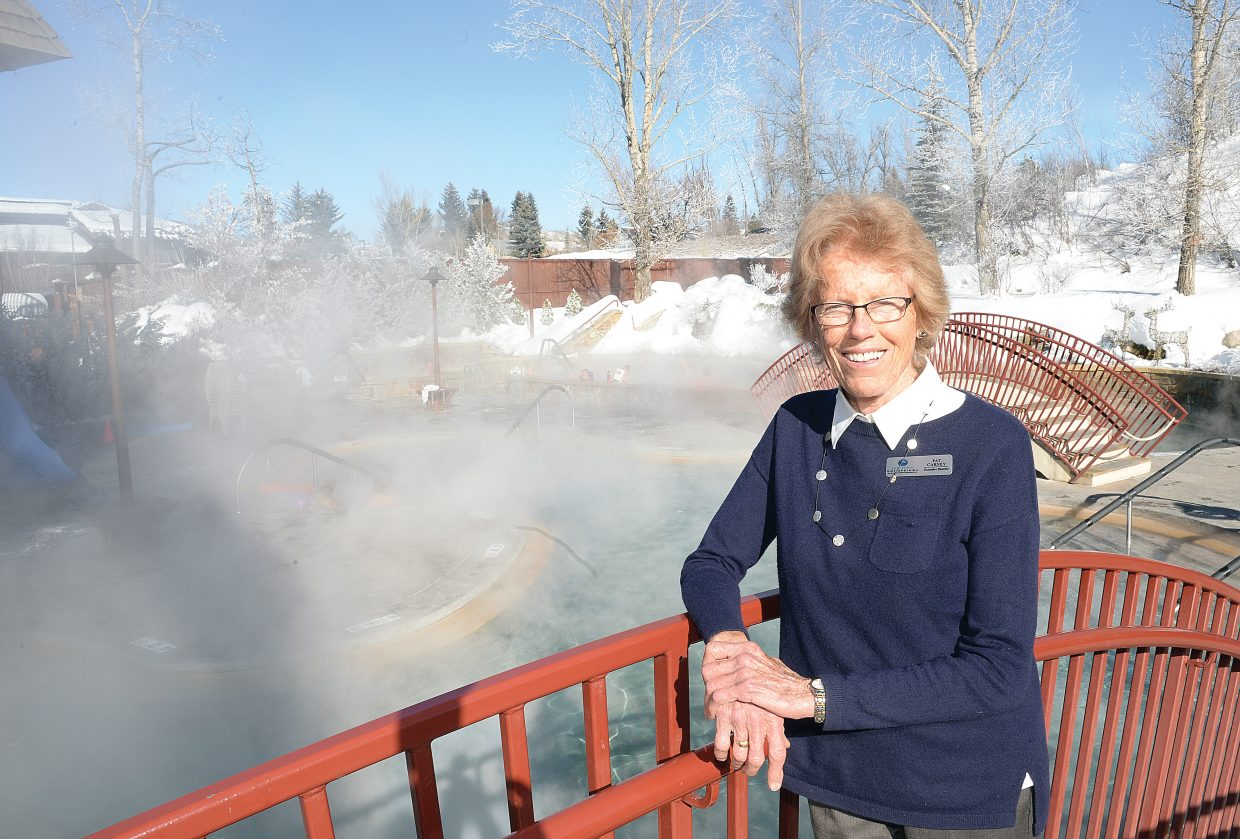 Pat Carney, the longtime executive director of the Old Town Hot Springs, will step down from the position on April 1. Carney has served in the position since 1975.