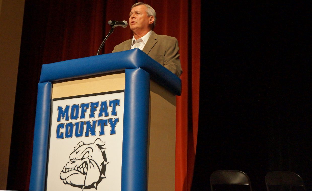 Moffat County Commissioner Chuck Grobe, who is currently the chair of the commission, will not seek a second term.