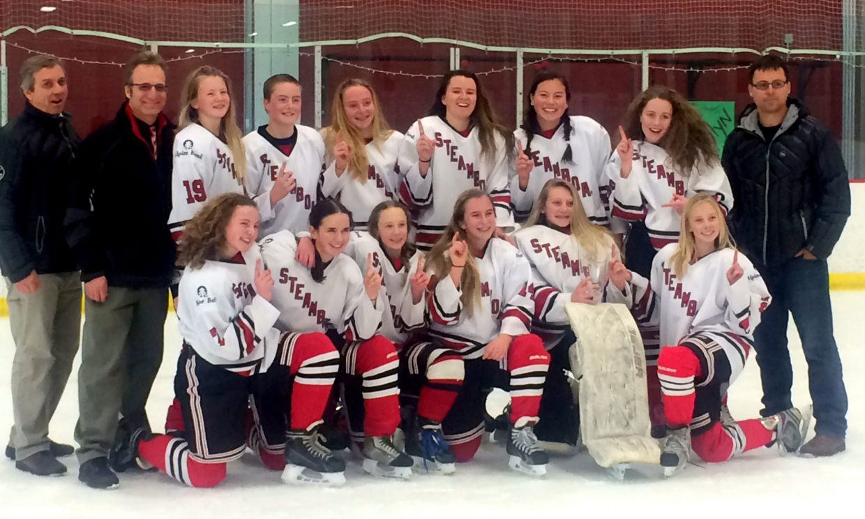 Steamboat's U14 girls hockey team bounced back from a 1-0 deficit to beat a Salt Lake City team in the finals of a tournament in Vail over the weekend. Steamboat had lost to the team the day before, but got the last laugh by winning its first tournament of the season.