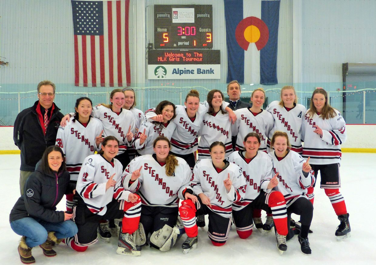 Steamboat's U19 girls hockey team fought its way to a championship at a tournament last weekend in Vail. It was the team's second tourney win of the season. The squad went 4-0-1 in the tournament and in the championship beat the only team it had not defeated in round robin play.