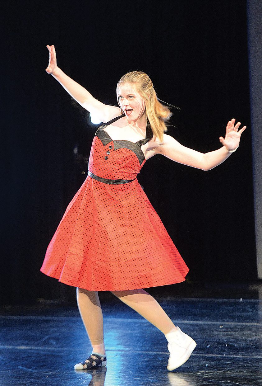 Dancer Delaney Johnston performs during a dress rehearsal for this weekend's annual Steamboat Springs High School Dance Showcase. The show opened Thursday evening, but there will have two more shows at 7 p.m. Friday and Saturday in the school auditorium.