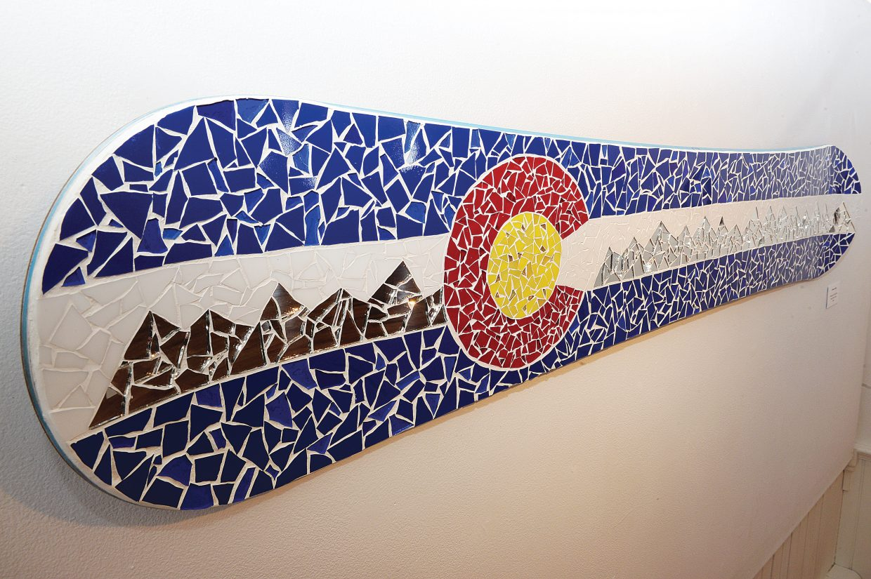 """""""Reflections of Steamboat"""" is just one of the many pieces currently on display at the Depot Arts Center as part of the Winter Tracks art show."""