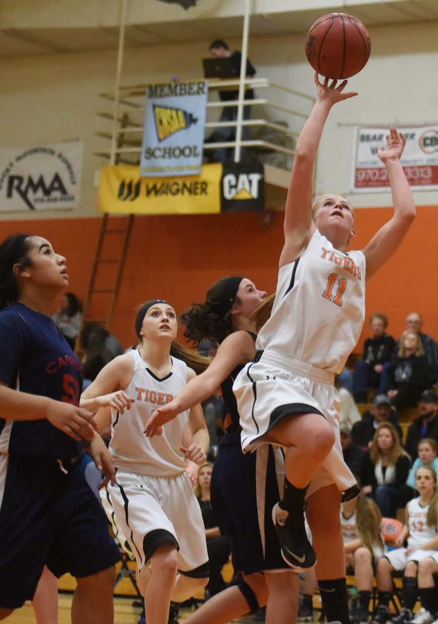 Allison Ingols goes up for a shot Friday.