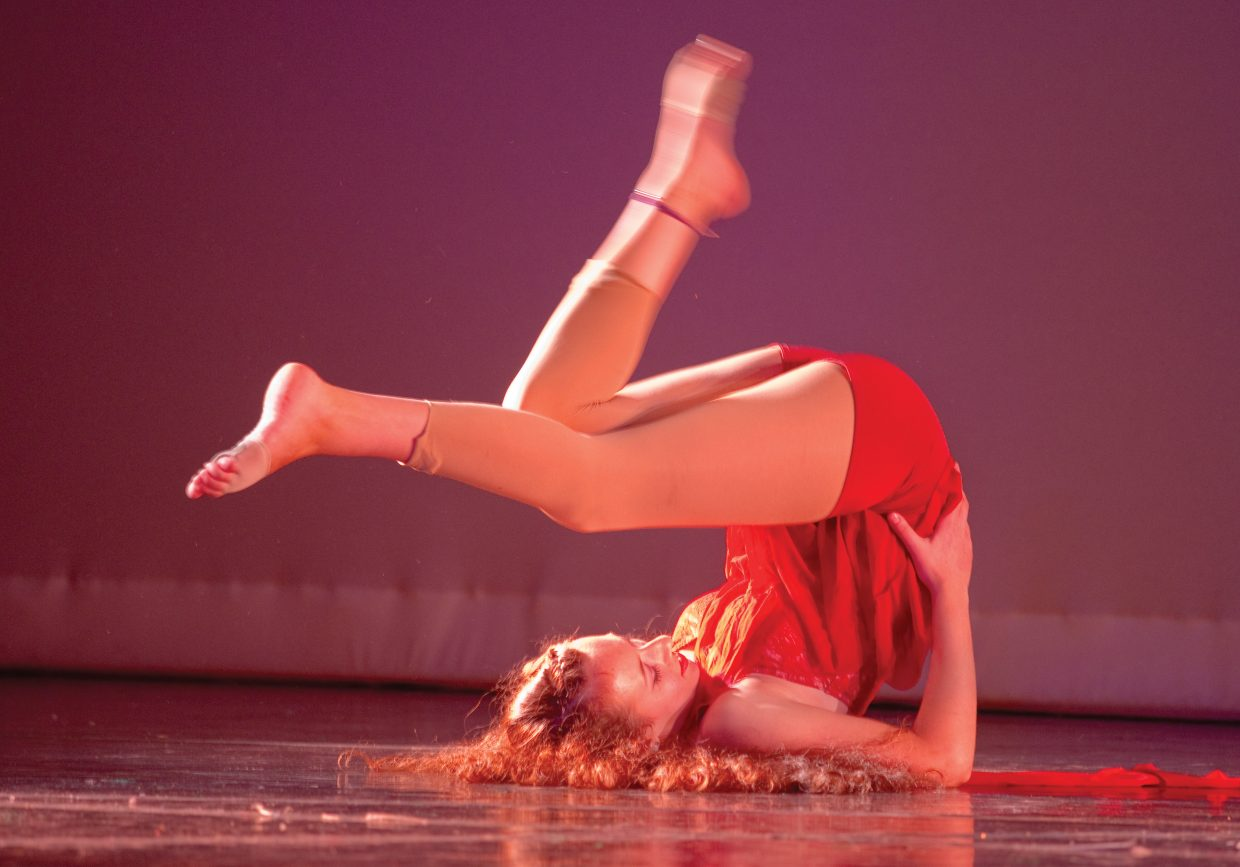 Dancer Jenna Kramer performs a number during a rehearsal for the 18th annual Dance Showcase. This year's production will take place at 7 p.m. Thursday, Friday and Saturday at Steamboat Springs High School.