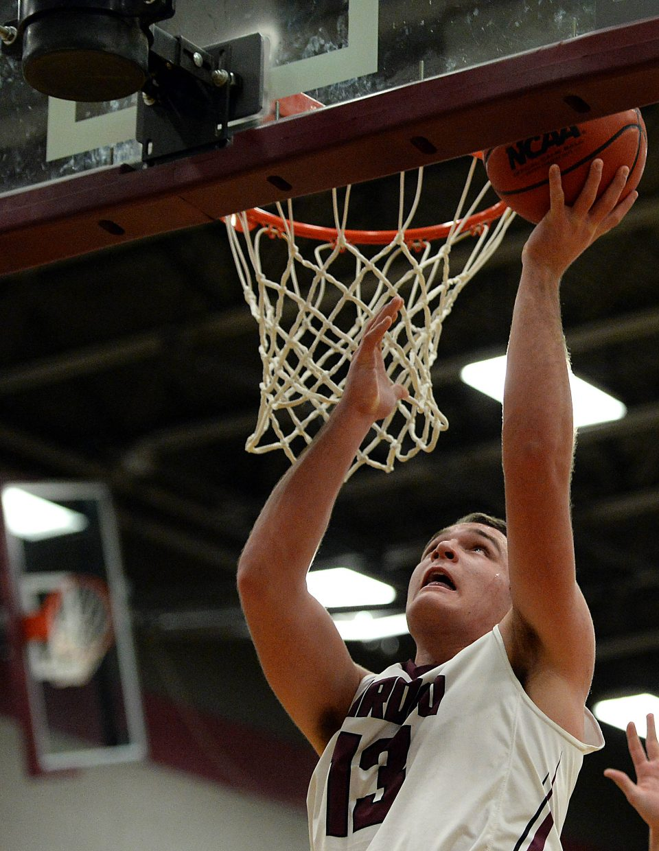 Ryan Jeep puts up two points Wednesday against Vail Christian.