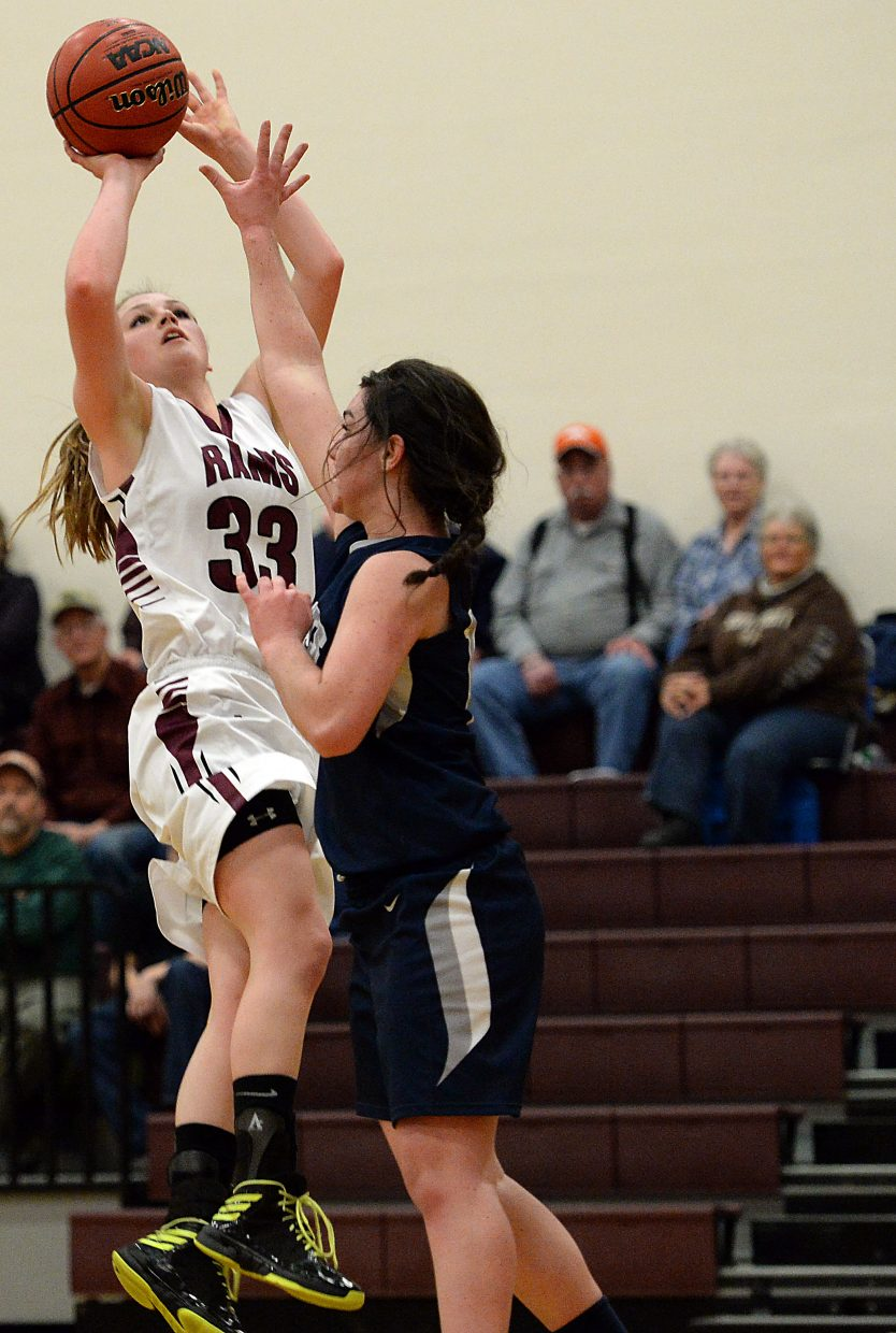 Jessica Rossi puts up a shot Wednesday against Vail Christian.