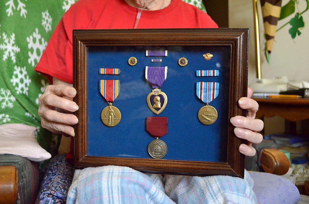 After three handwritten letters to the Bureau of Naval Personnel failed to win a response, Oak Creek resident Vi Shaffer, 80, wrote to President Barack Obama asking for a new Purple Heart medal to replace one awarded to her brother who went down with his Navy ship in 1943. Her wish was granted.