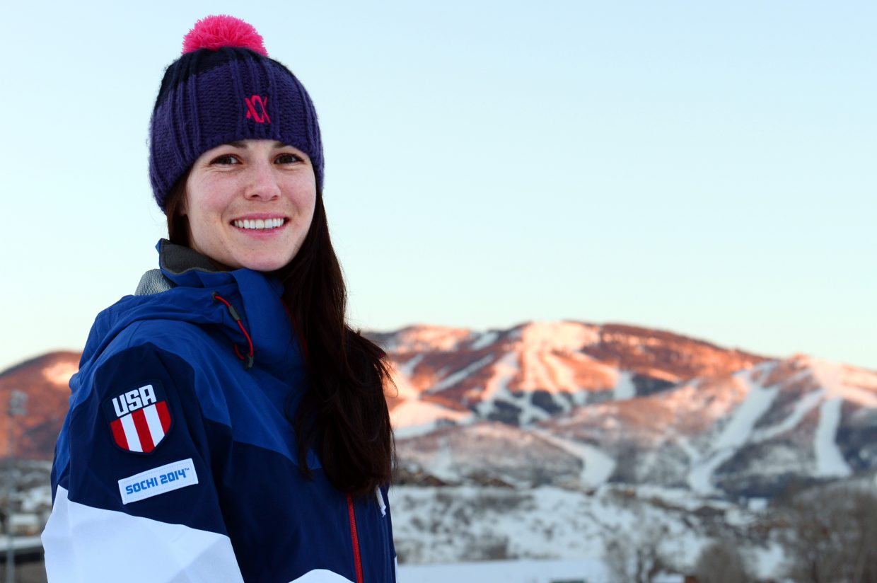 Freestyle moguls skier Eliza Outtrim is competing in the 2014 Winter Olympics in Sochi, Russia. Outtrim attended The Lowell Whiteman School in Steamboat Springs and has trained with the Steamboat Springs Winter Sports Club.