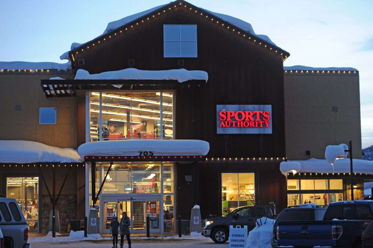 Sports Authority was saddled with $1.1 billion in debt.