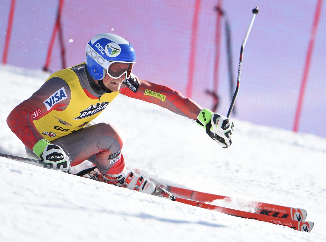 Kipling Weisel flies down the All Out ski run at Steamboat Ski Area on Saturday. He went on to finish second in the giant slalom race.
