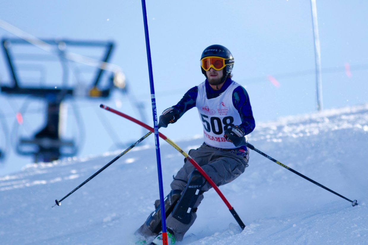 Steamboat Springs High School skier Tristan Arnis makes his way down a slalom course Friday at Ski Cooper.