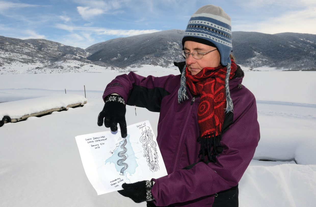 Sonja Hinrichsen, German-born environmental artist visiting Steamboat Springs from San Francisco travels to Steamboat Springs for two consecutive weekends in January to create her Snow Drawings with the help of the community that reflect the culture and history of the town.