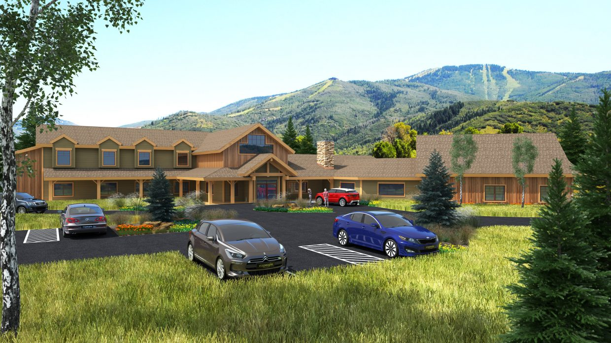 This rendering by Mountain Architecture Design Group shows the proposed enlarged new headquarters for Steamboat Adaptive Recreational Sports — STARS. The not-for-profit is seeking to revise its January 2015 Routt County permit to allow doubling the size of its new headquarters building.