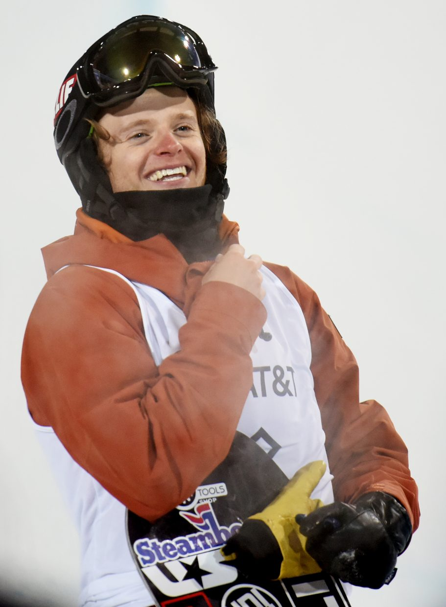 Taylor Gold smiles wide after landing a run Thursday at X Games.