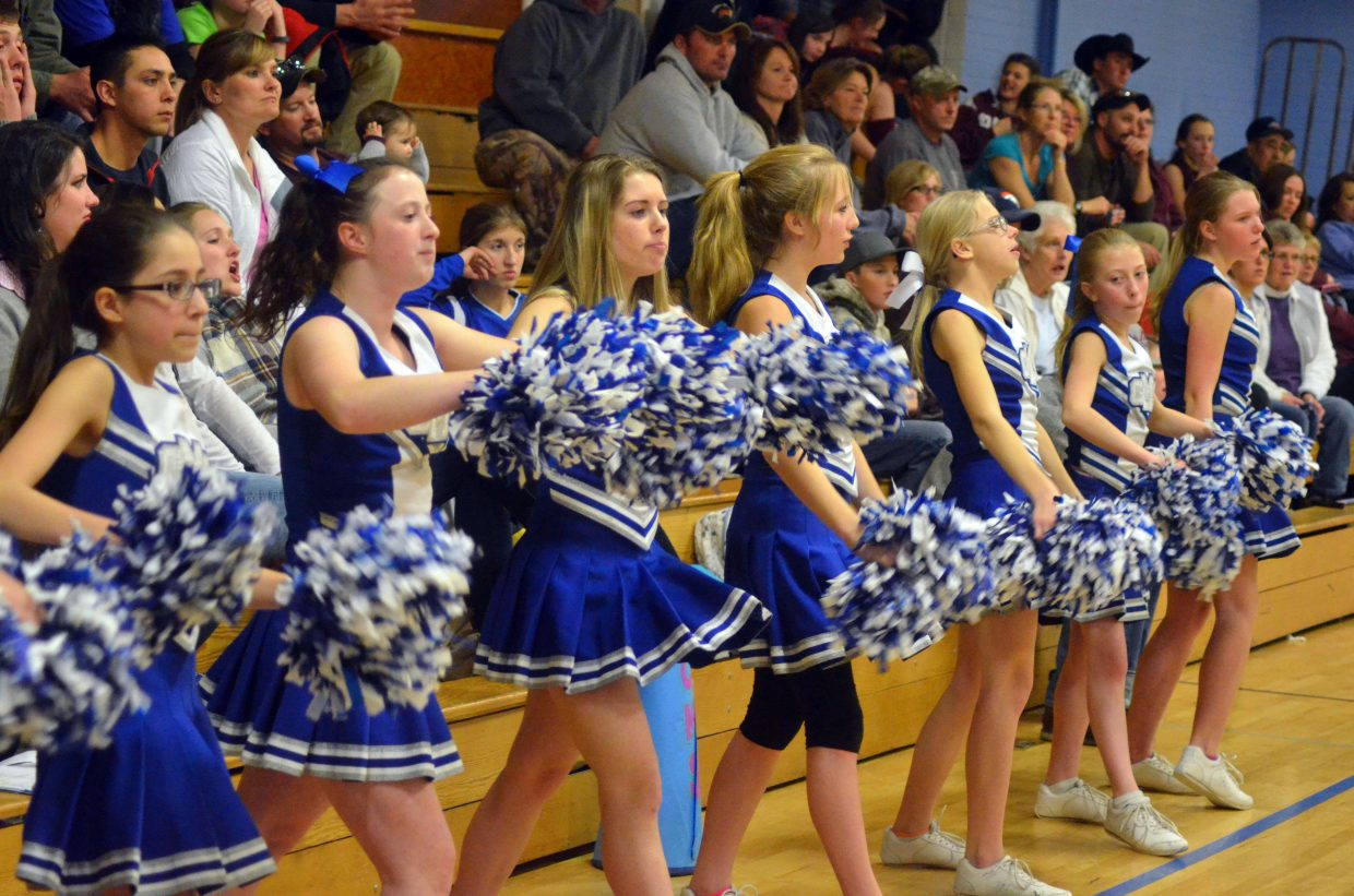 The Craig Middle School cheer squad gets the energy going during Thursday basketball games.