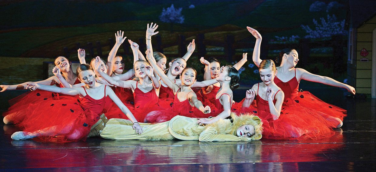 The Lion, played by Ella Chapman, falls asleep in a field of poppies in a scene from The Wiz, which will take center stage at the Steamboat Springs High School this weekend. Members of Elevation Dance Studio will bring the show to the Steamboat Springs High School this weekend with 6 p.m. performances Friday and Saturday evening. For the complete story see today's Explore.