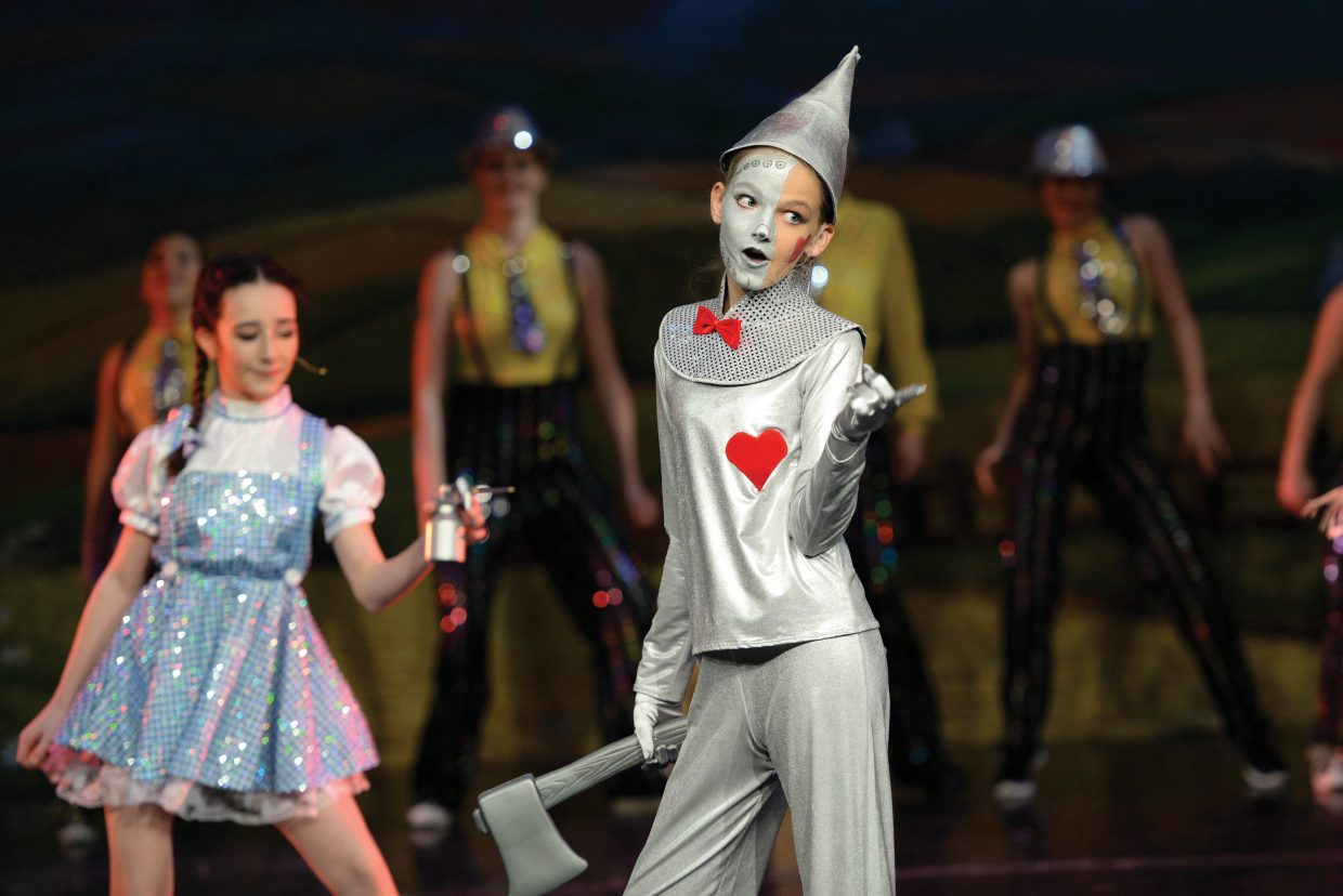 "Gigi Gray playing the part of ""The Tin Man"" rehearses for a scene in The Wiz, which will take center stage at the Steamboat Springs High School this weekend. Members if Elevation Dance Studio will bring the show to the stage at the Steamboat Springs High School this weekend with 6 p.m. performances Friday and Saturday evening. For the complete story see look inside today's Explore."
