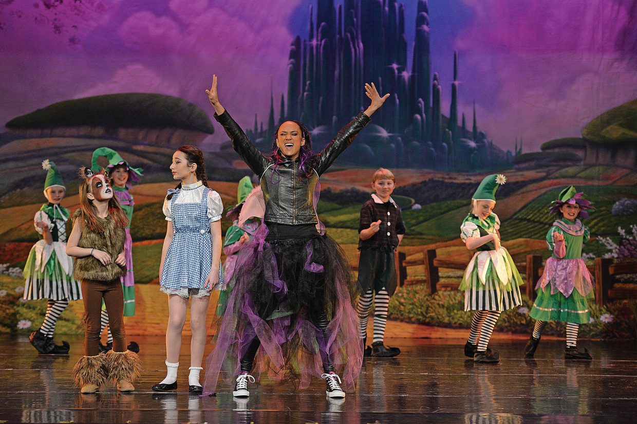 Solange Guenier-Chambers, playing the part of Addaperle, rehearses a scene in The Wiz, which will take center stage at the Steamboat Springs High School this weekend. Members of Elevation Dance Studio will bring the show to the Steamboat Springs High School this weekend with 6 p.m. performances Friday and Saturday evening. For the complete story, see today's Explore.