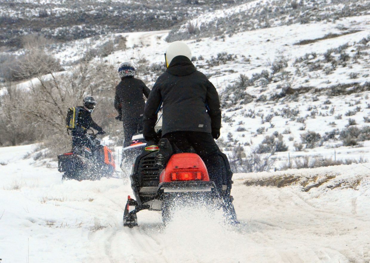 Snowmobilers hit the trail for the 2015 Poker Run, hosted by Northwest Colorado Snowmobile Club. This year's event takes place Saturday morning, starting at Freeman Reservoir Trailhead.
