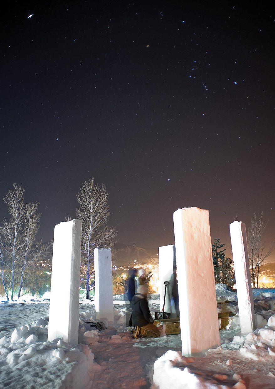Students in the Sky Club have re-created Stonehenge on the Colorado Mountain College campus as part of the crystal observatory.