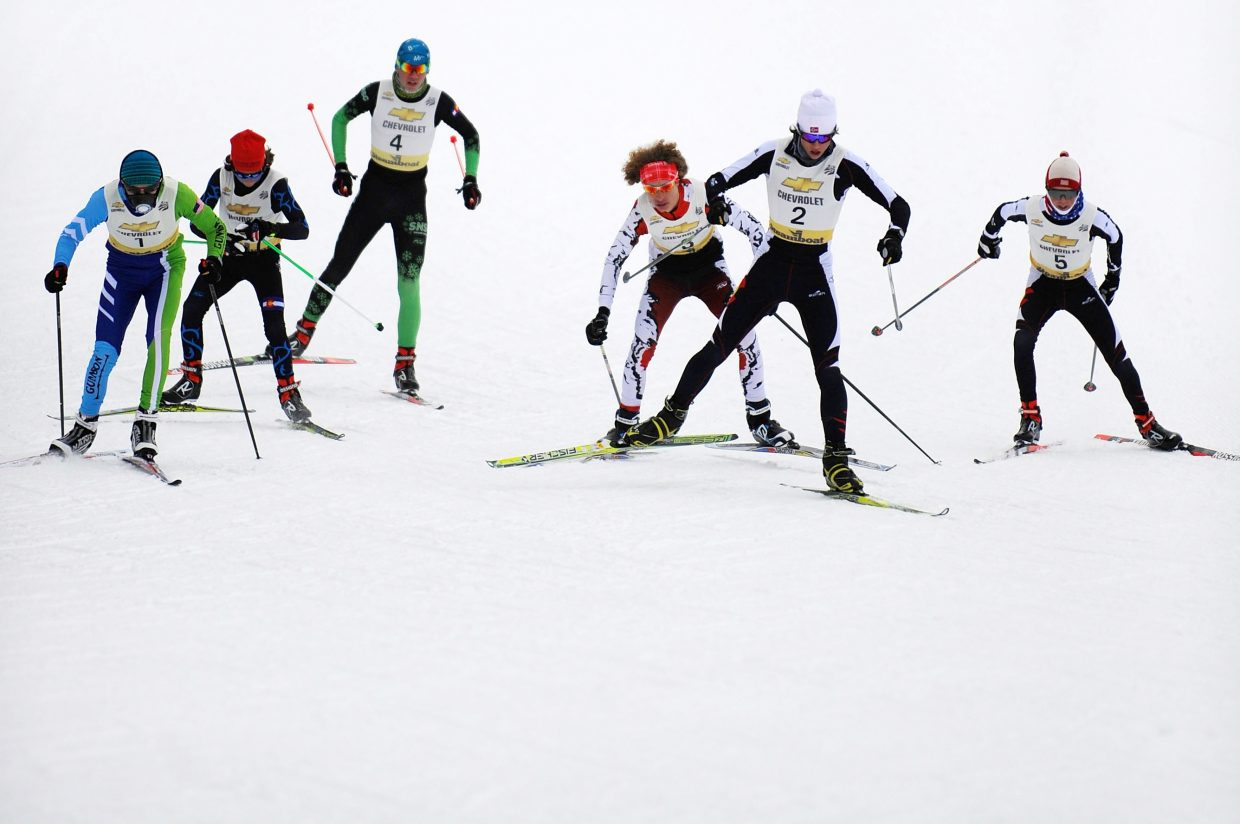 Skiers compete Saturday in a Nordic freestyle skiing sprint event at Howelsen Hill in Steamboat Springs.