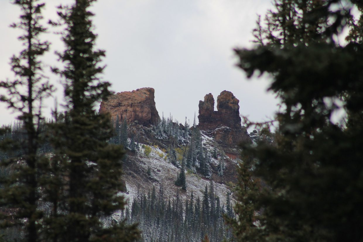 First snow on Rabbit Ears. Submitted by: Brian Savoie