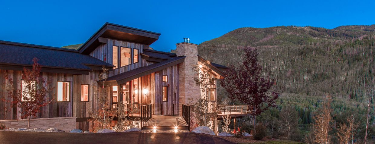 This five-bedroom, five-bath home built by Soda Mountain Construction in the Sanctuary subdivision sold for $3.6 million in 2014, the highest residential sale of the year. Some real estate brokers think that high-end, new construction paved the way for the highest grossing year in real estate since 2008.