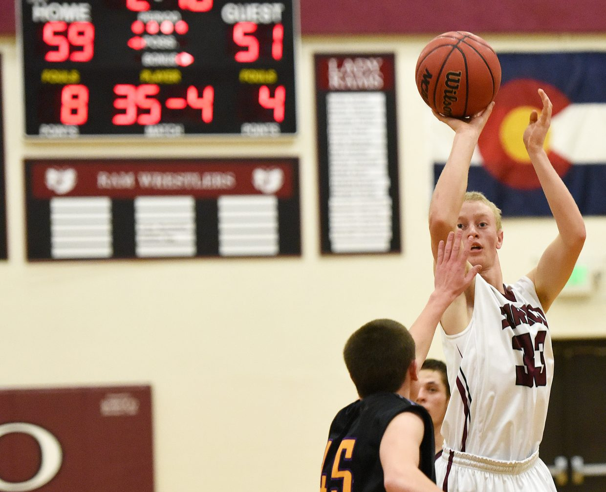 Warren Hayes puts up a shot for Soroco on Saturday.