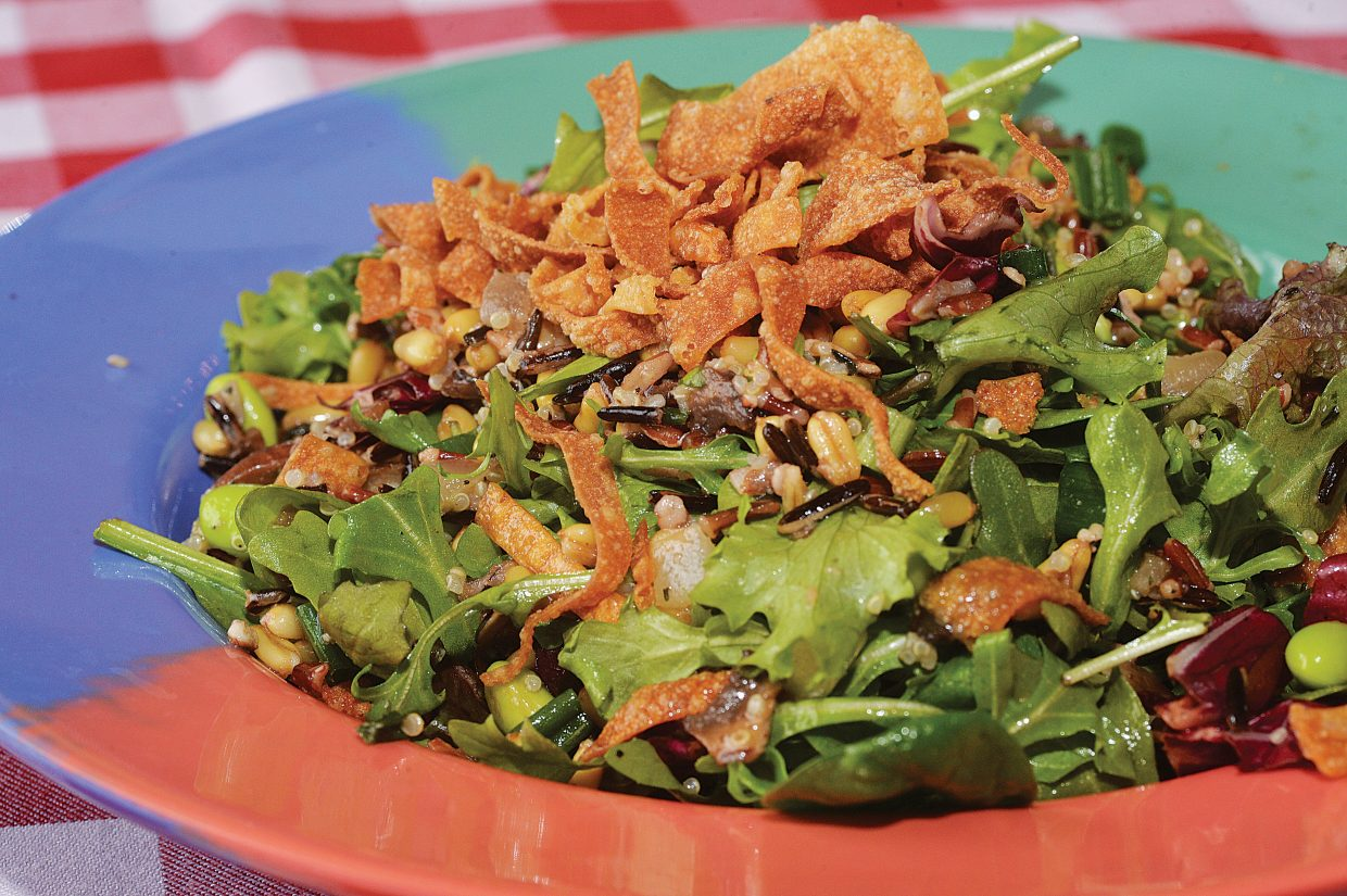 Steamboat Ski Area is making its menu a little healthier these days. One of the newest items is this Power Greens and Wild Mushroom Salad.