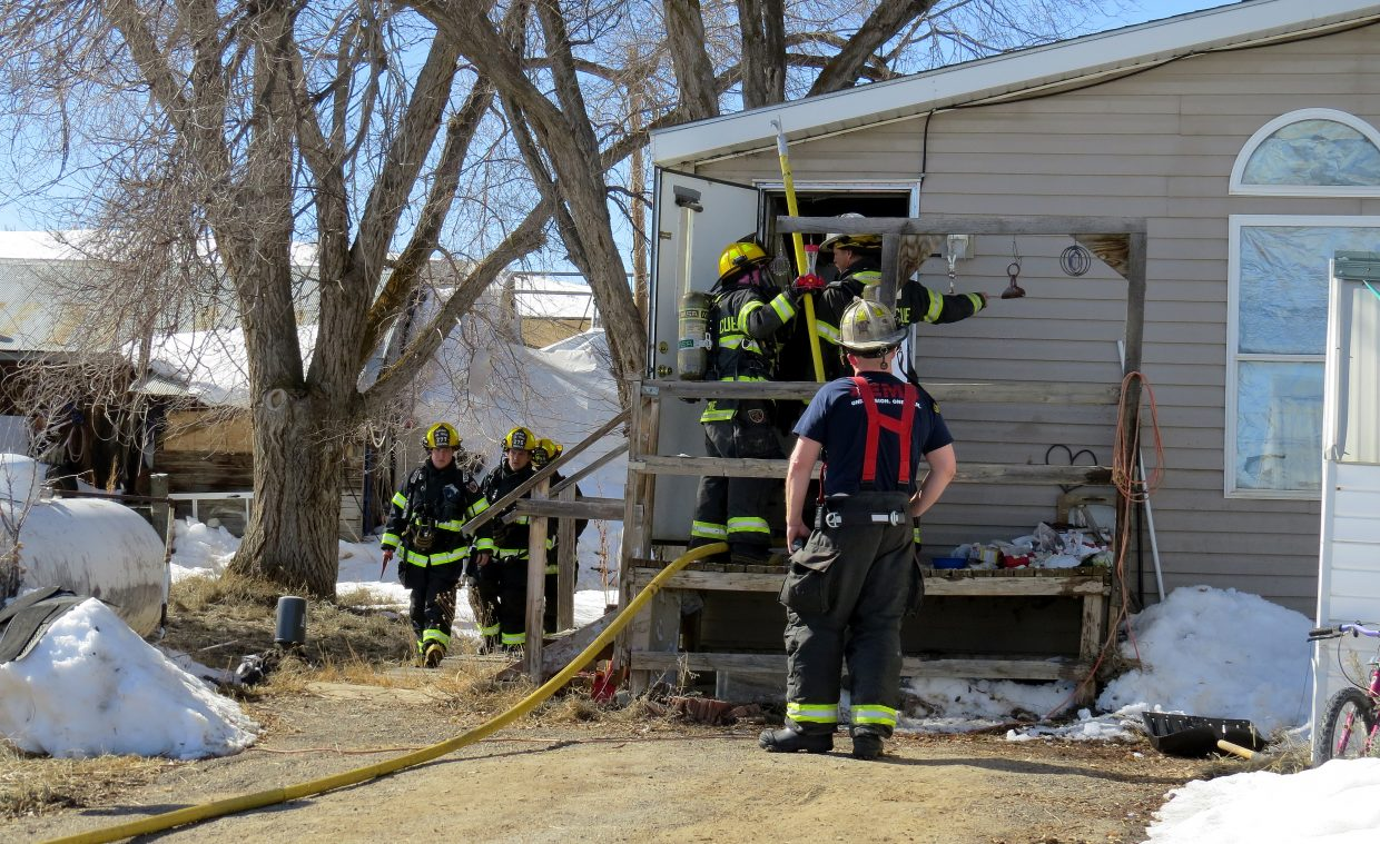 On Sunday afternoon, Craig Fire/Rescue responds to a structure fire where fumes from paint and adhesives ignited while the homeowners were remodeling their bathroom. No one was injured in the fire, said Moffat County Sheriff KC Hume.