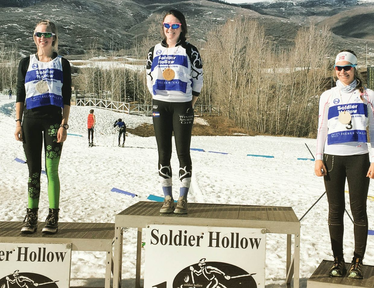 Steamboat Springs Winter Sports Club member Jordi Floyd topped the U18 division in the Mass Start Classic race at the Super Junior National Qualifiers last weekend in Soldier Hollow. She was second overall.