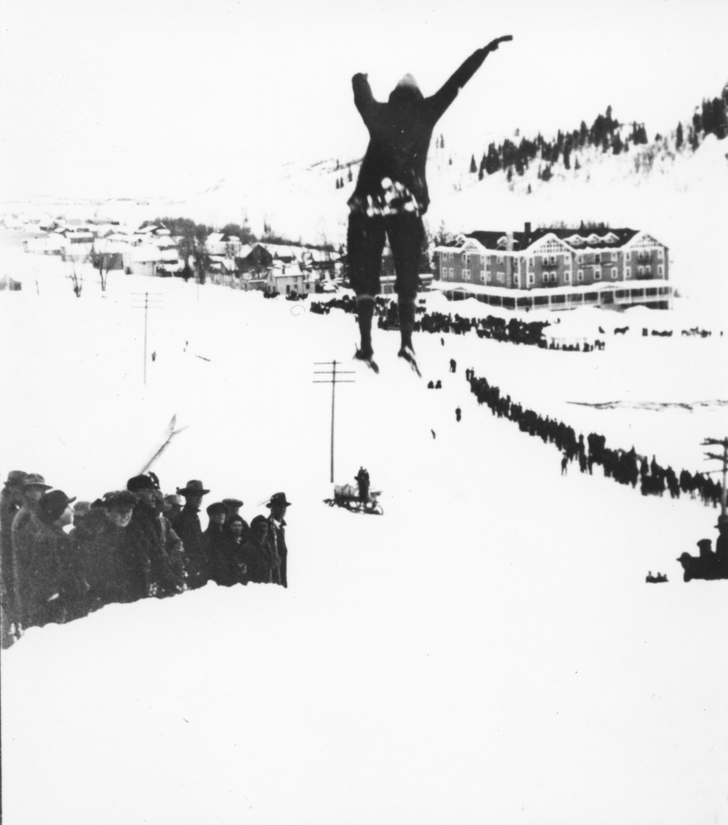 Here is a photo from the 1914 Winter Carnival on Woodchuck Hill.