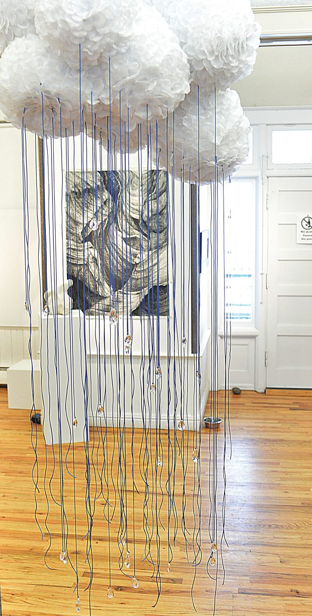 Kim Keith's piece Episodic Raincloud is part of this year's Palettes: A Taste for the Senses, which will open at the Depot Art Center on Friday.