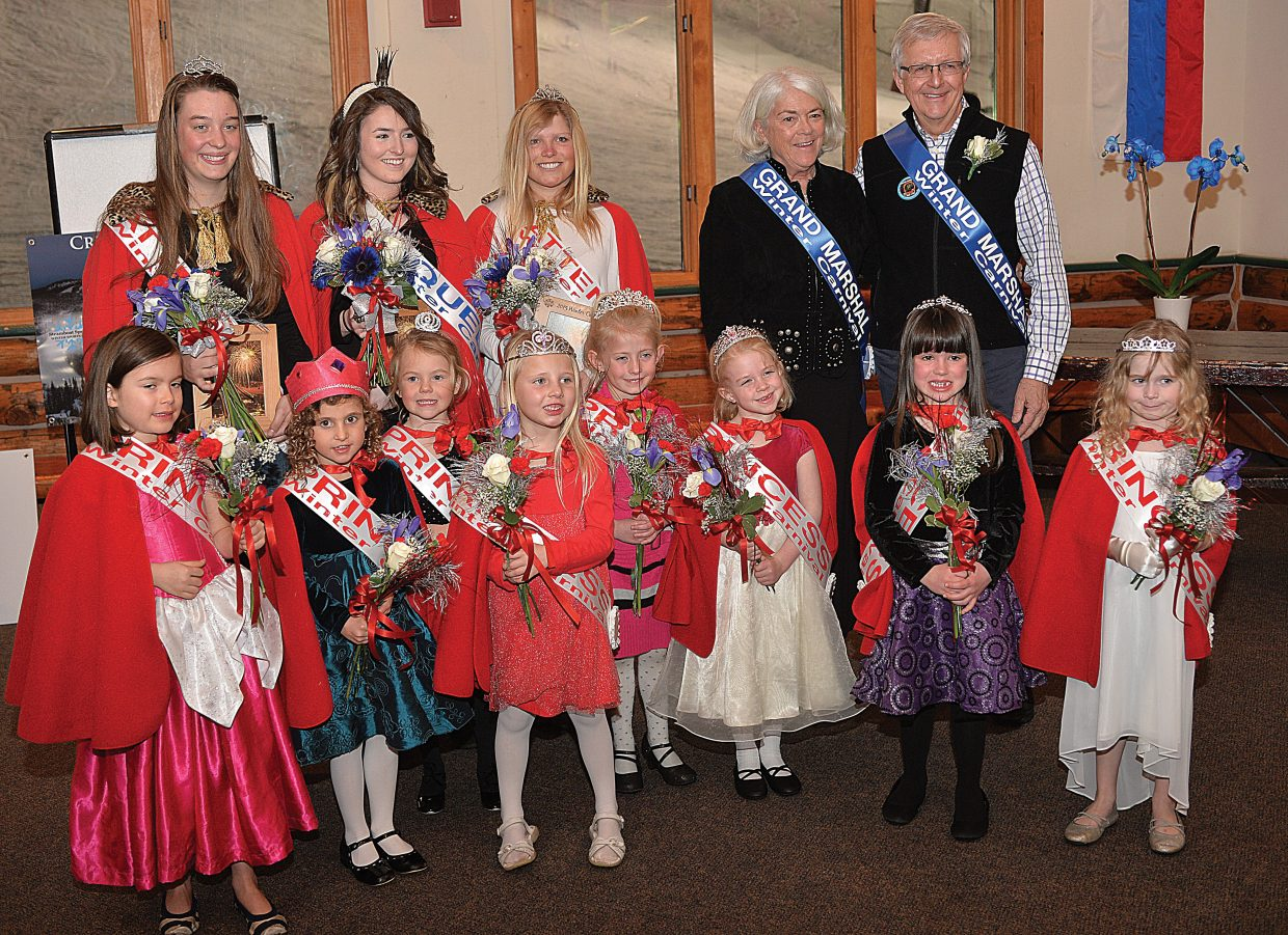 The 2015 Winter Carnival Royalty, and Winter Carnival Grand Marshals Chris and Eileen Diamond, were on hand for Wednesday evening's Opening Ceremonies.