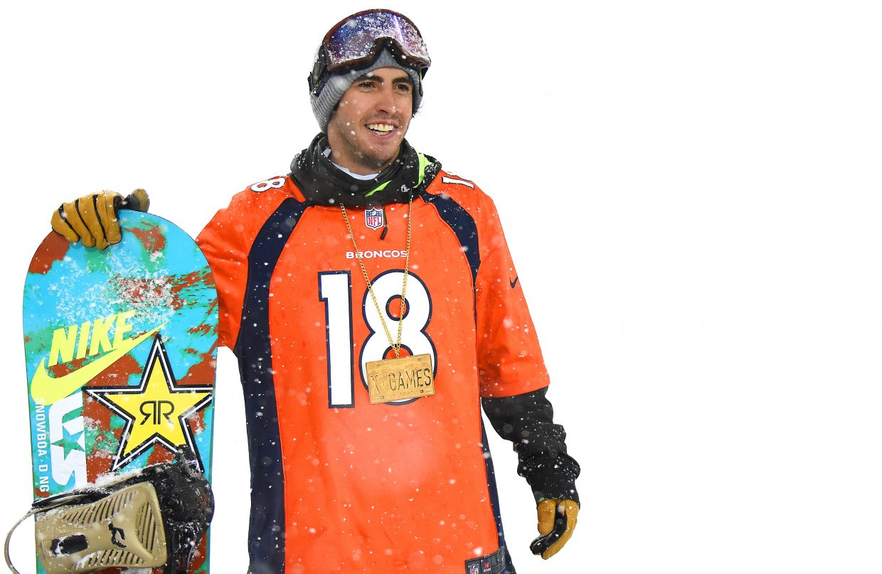 Steamboat Springs snowboarder Matt Ladley was sporting a Peyton Manning jersey when he won an X Games gold medal last weekend.