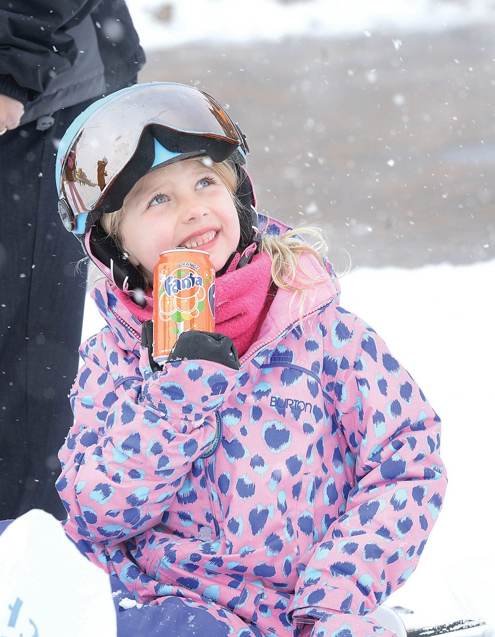 Six-year-old Rockelle Worley enjoys a soda pop at the base of the Steamboat Ski Area during the annual Soda Pop Slalom race Friday morning. The event is a part of the annual Steamboat Springs Winter Carnival celebration.