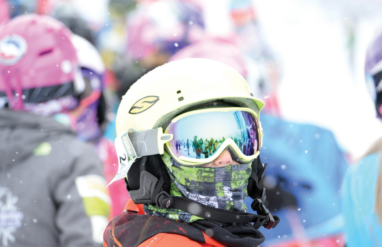 Ski racer Sean Struble waits for his turn at the Steamboat Ski Area Friday morning during the Soda Pop Slalom Race. The event is a part of the annual Steamboat Springs Winter Carnival celebration.