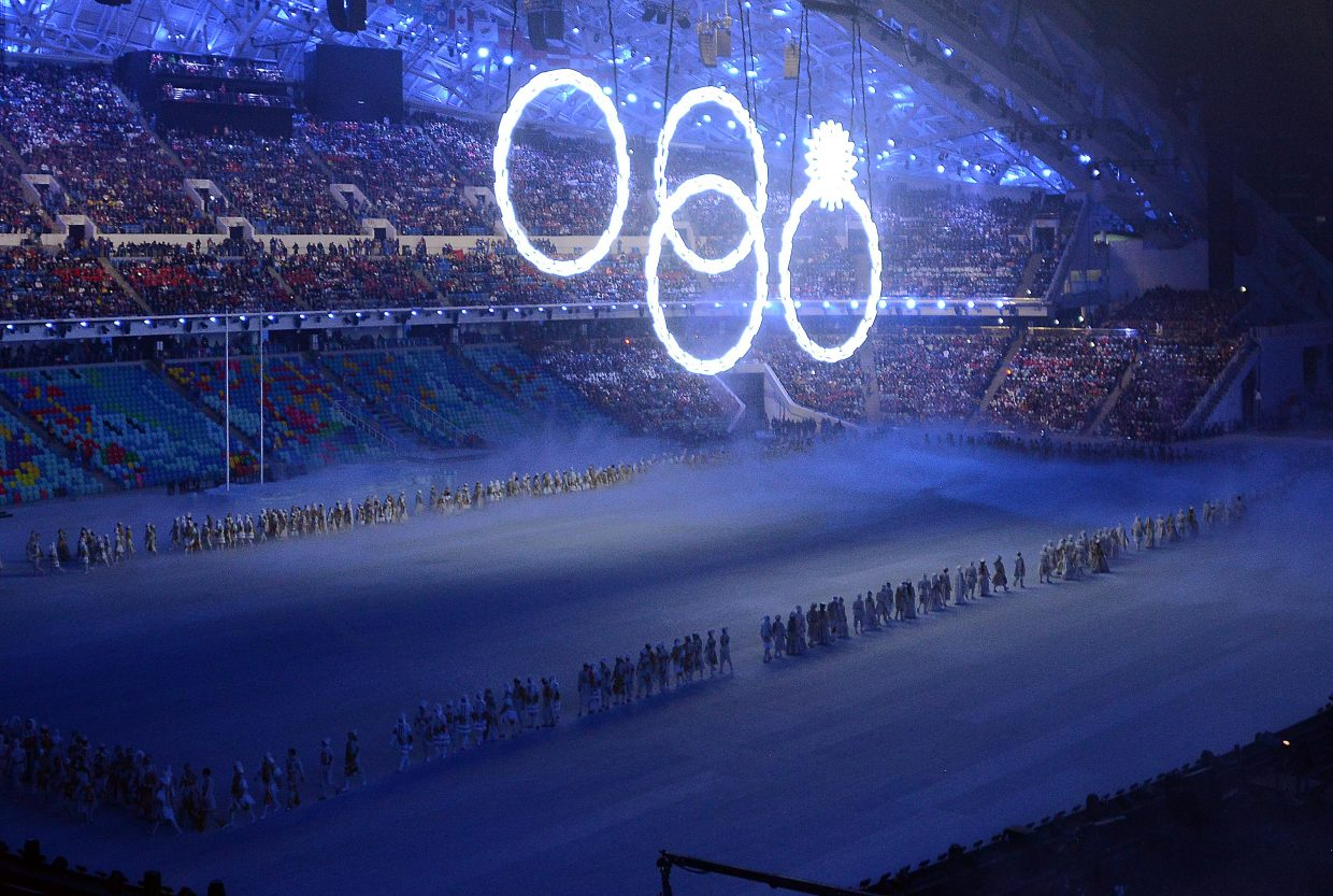 Not everything worked out perfectly Friday during the opening ceremony at the 2014 Winter Olympics in Sochi, Russia. One of the five Olympic rings dangling from the Fisht Stadium room failed to open.