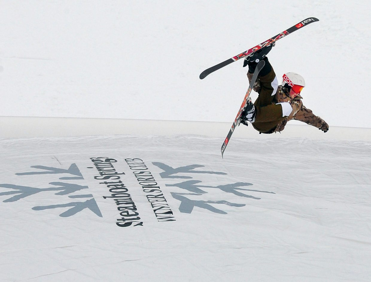 Bridger Boyd performs a trick before landing safely in an airbag at the base of Howelsen Hill. The airbag jam session is one of the new Winter Carnival events incorporated into this year's schedule.