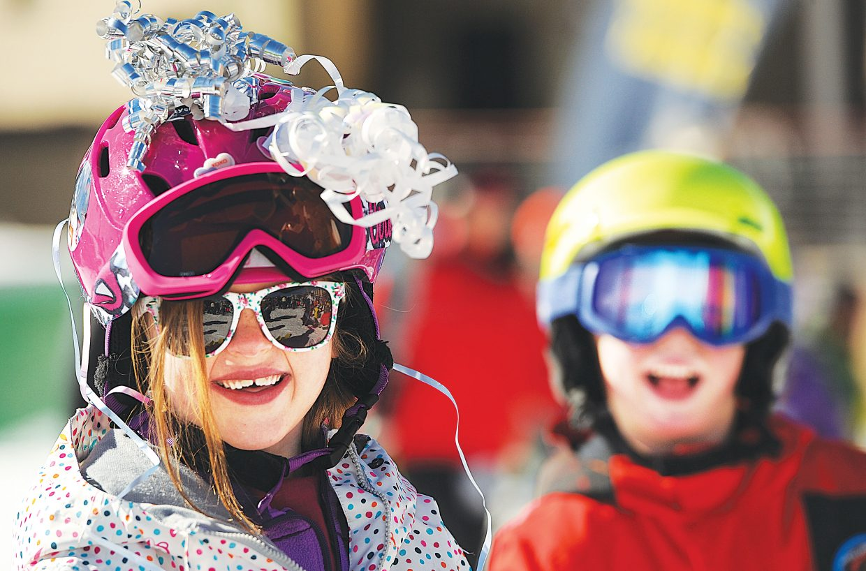 Abby Elliot was all smiles at the 2015 Soda Pop Slalom ski race Friday morning. The Steamboat Springs Winter Carnival tradition is a right-of-passage for young skiers in the Steamboat Springs area.