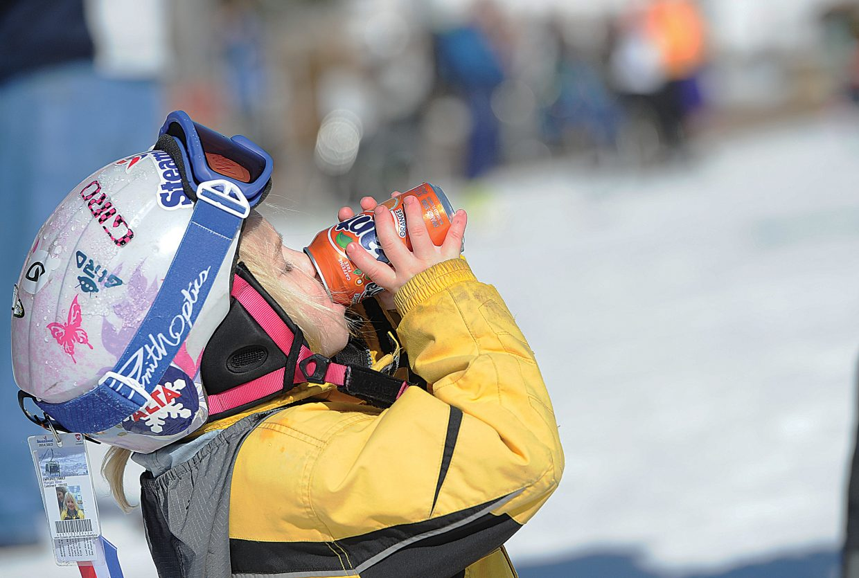 For Morgan Winn, the drink after the race may have been the best part of the 2015 Soda Pop Slalom, which took place Friday at Steamboat Ski Area. The Steamboat Springs Winter Carnival tradition is a right-of-passage for young skiers in the Steamboat Springs area.