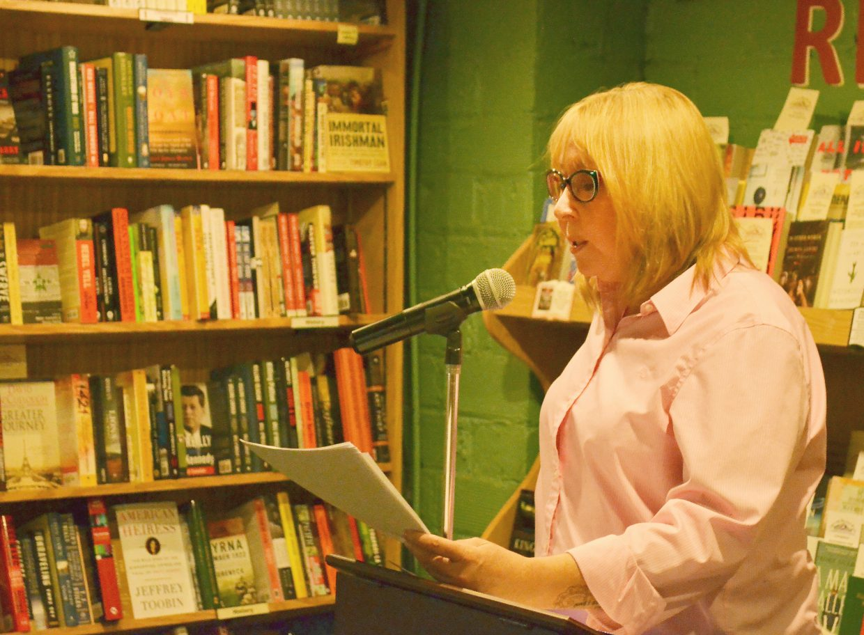 Colorado Mountain College Steamboat Springs Professor of English Lindsey Royce reads from a new collection of poems at Off the Beaten Path Bookstore and Coffee House on Feb. 2.