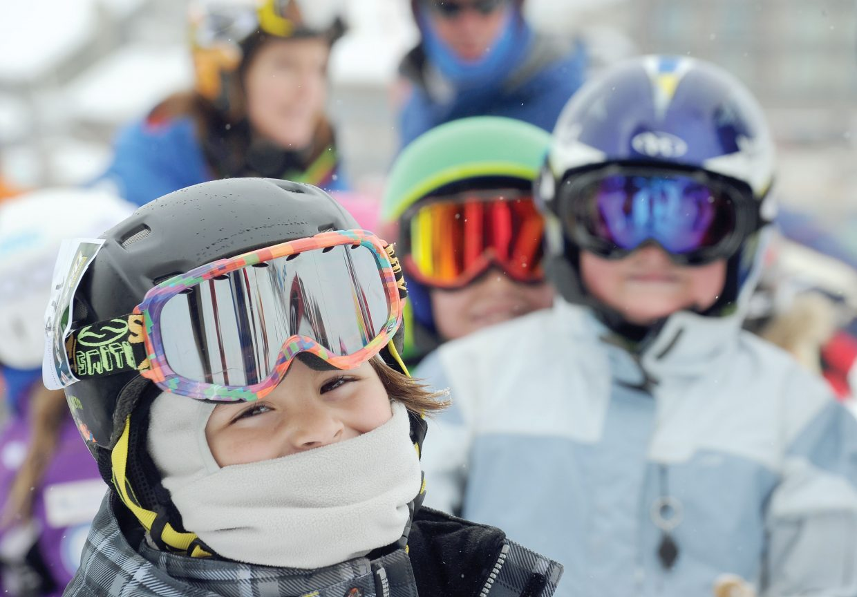Dylan Gormley, 8, waits for his turn Friday morning during the annual Soda Pop Slalom at Steamboat Ski Area. The Steamboat Springs Winter Carnival event is a rite of passage for young skiers in Steamboat Springs and serves as a preview of a weekend full of fun.