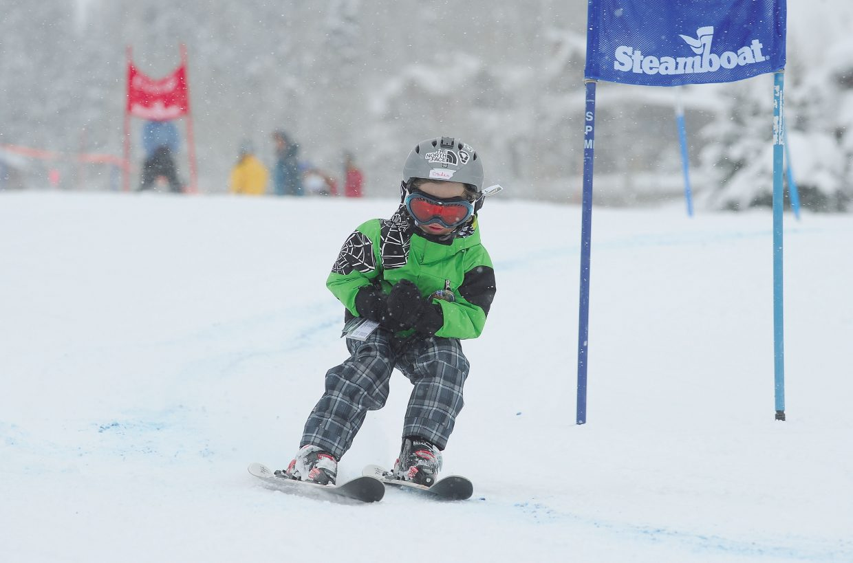 Caden Sulentich makes his way through the race course Friday morning during the annual Soda Pop Slalom at Steamboat Ski Area. The Steamboat Springs Winter Carnival event is a rite of passage for young skiers in Steamboat Springs.
