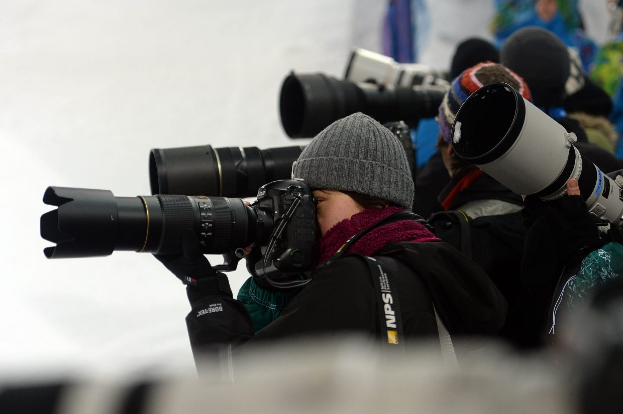 The photographers flocked to capture Japanese moguls skier Arisa Murata's every move Saturday. Murata gave them plenty to work with, finishing fourth.
