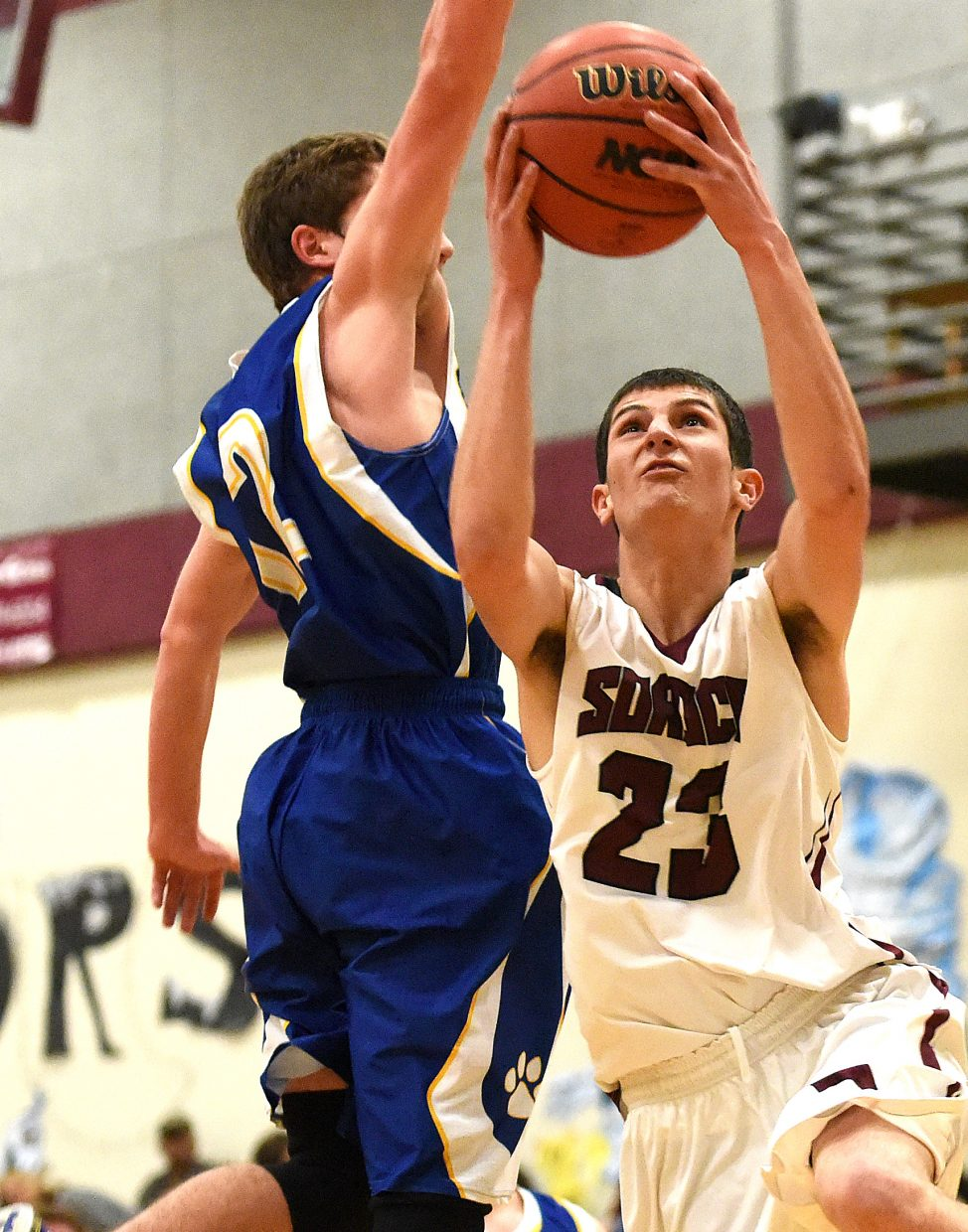 Soroco's Carl Rossi goes up for a shot Saturday against North Park. The Rams easily beat the Wildcats.