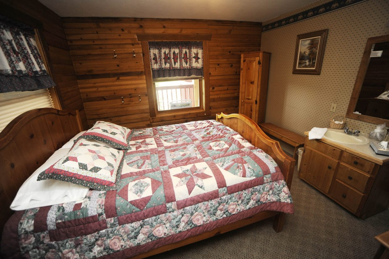 A photograph of a guest bedroom at the Hahn's Peak Inn originally published in July 2010. Routt County government is considering shutting down non-permitted, long-term employee housing at the inn.
