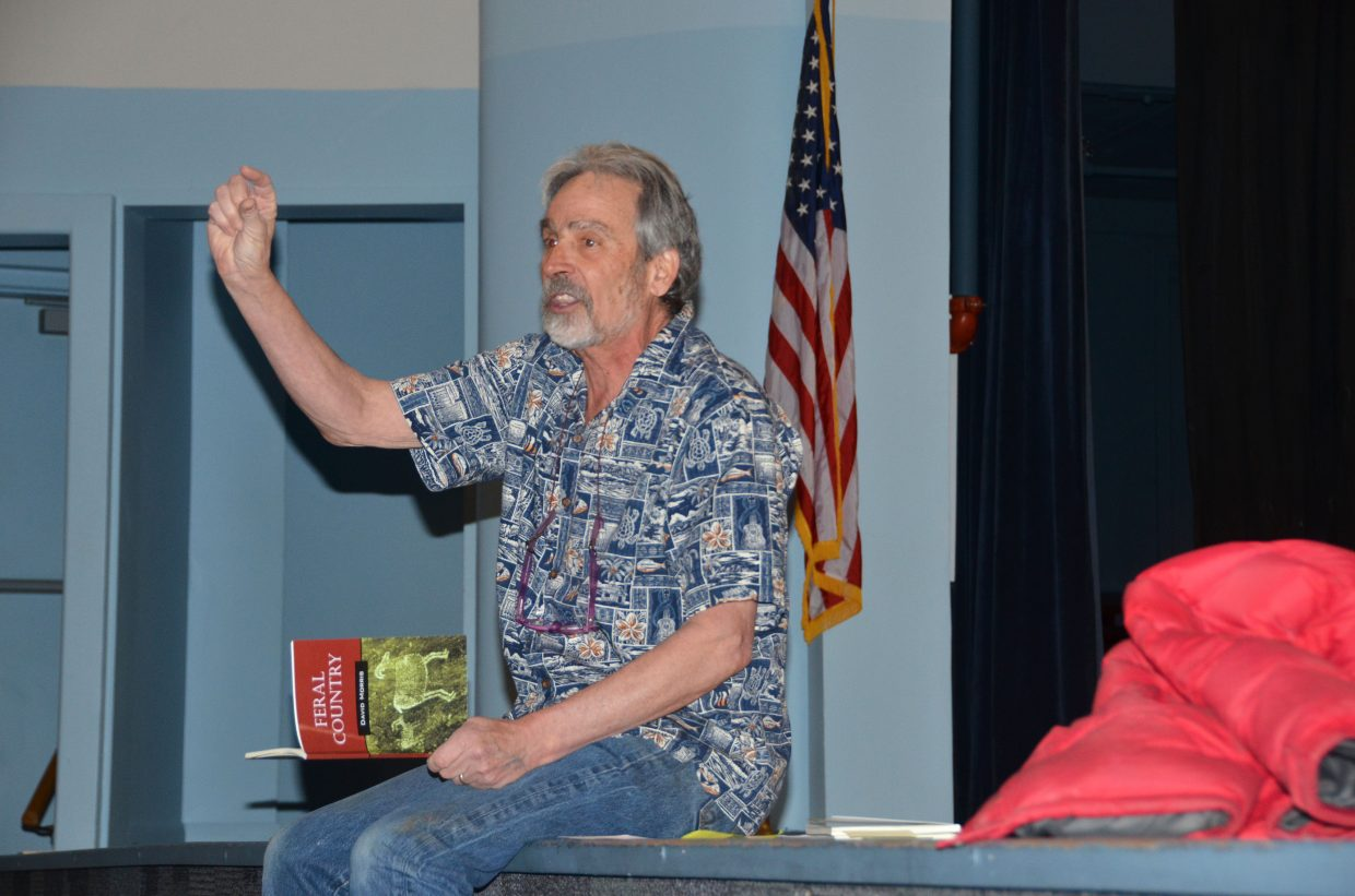 David Morris, who's published three books of poetry and who taught at Craig Middle School for 23 years before retiring a few years ago, introduced a poetry contest to middle school students on Friday.