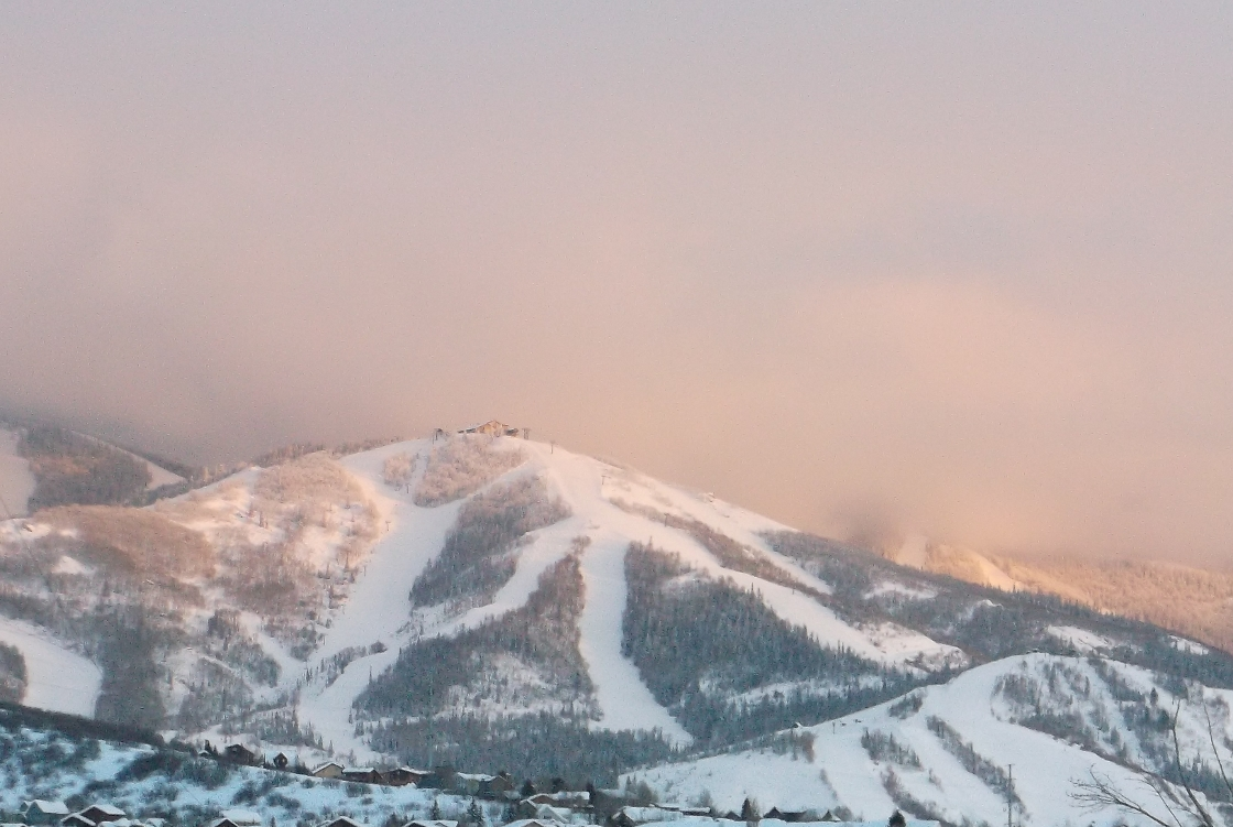 Alpenglow on Monday. Submitted by: Rhys Jones