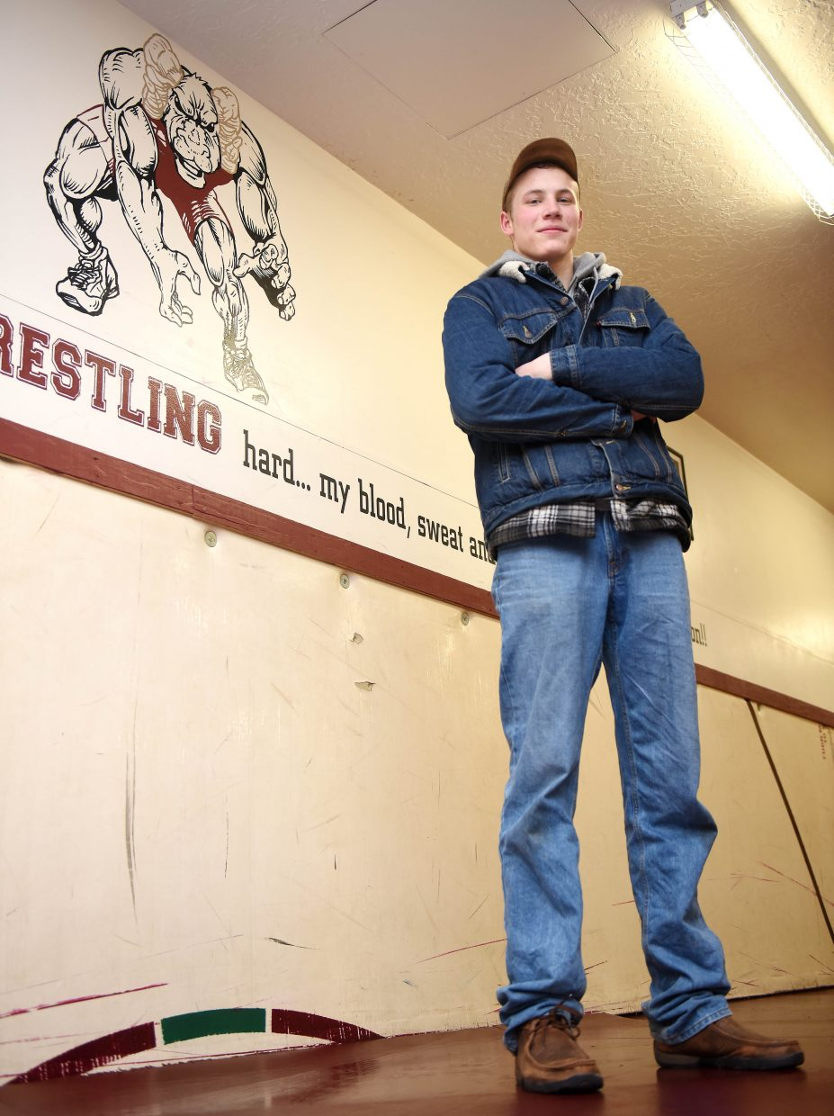 Soroco junior Sky Carlson has emerged as a challenger to make the state tournament at 195 pounds in his first season on the high school wrestling team.